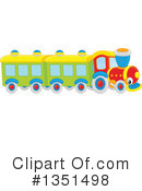 Royalty-Free (RF) Train Clipart Illustration #1351498