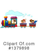 Royalty-Free (RF) Train Clipart Illustration #1379898