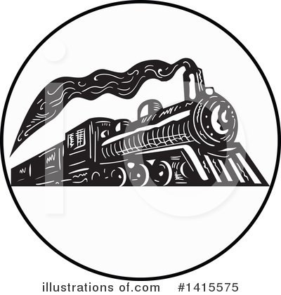 Train Clipart #1415575 by patrimonio