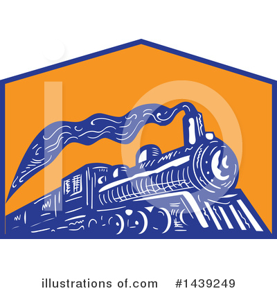 Railroad Clipart #1439249 by patrimonio
