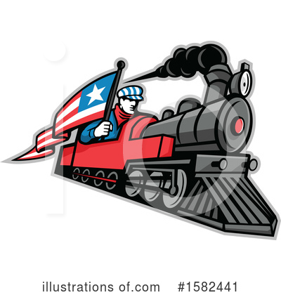 Royalty-Free (RF) Train Clipart Illustration by patrimonio - Stock Sample #1582441
