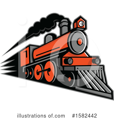 Train Clipart #1582442 by patrimonio