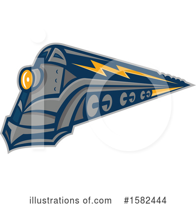 Train Clipart #1582444 by patrimonio