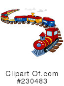 Royalty-Free (RF) train Clipart Illustration #230483