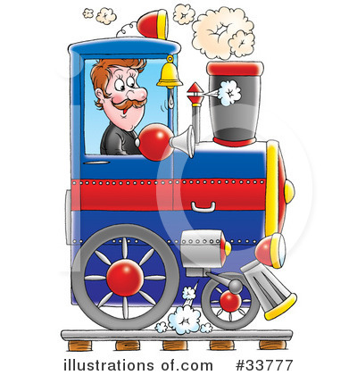 Train Clipart #33777 by Alex Bannykh