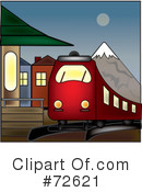 Royalty-Free (RF) Train Clipart Illustration #72621