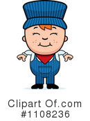 Royalty-Free (RF) Train Engineer Clipart Illustration #1108236