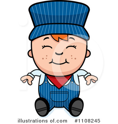 Train Engineer Clipart #1108245 by Cory Thoman