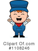 Royalty-Free (RF) Train Engineer Clipart Illustration #1108246