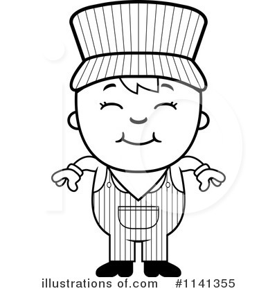 Train Conductor Hat Coloring Page Sketch