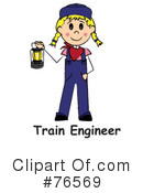 Royalty-Free (RF) Train Engineer Clipart Illustration #76569