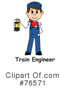 Royalty-Free (RF) Train Engineer Clipart Illustration #76571