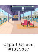 Royalty-Free (RF) Train Station Clipart Illustration #1399887
