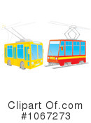 Royalty-Free (RF) Trains Clipart Illustration #1067273