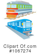 Royalty-Free (RF) Trains Clipart Illustration #1067274