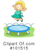 Royalty-Free (RF) trampoline Clipart Illustration #101515