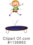 Royalty-Free (RF) trampoline Clipart Illustration #1136863
