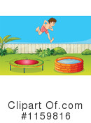 Royalty-Free (RF) Trampoline Clipart Illustration #1159816