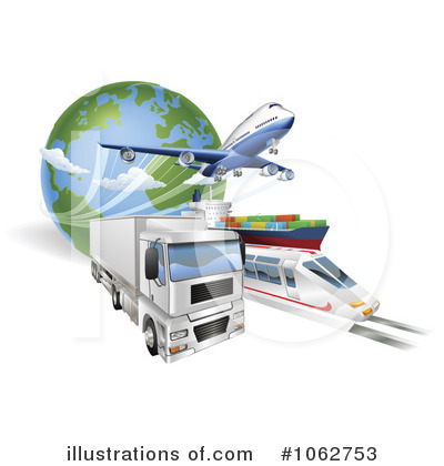 Logistics Clipart #1062753 by AtStockIllustration