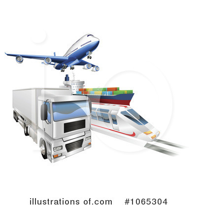 Logistics Clipart #1065304 by AtStockIllustration