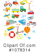 Royalty-Free (RF) Transportation Clipart Illustration #1078314