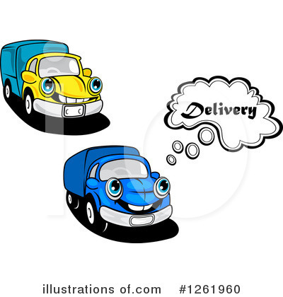 Moving Van Clipart #1261960 by Vector Tradition SM