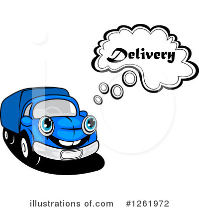 Moving Van Clipart #1261972 by Vector Tradition SM