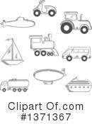 Royalty-Free (RF) Transportation Clipart Illustration #1371367