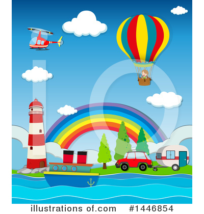 Hot Air Balloon Clipart #1446854 by Graphics RF