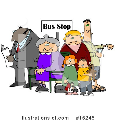 Bus Stop Clipart #16245 by djart