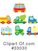 Royalty-Free (RF) transportation Clipart Illustration #33030
