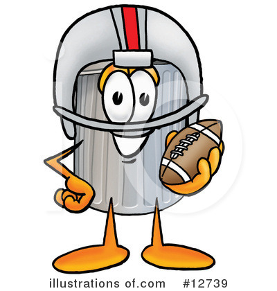Royalty-Free (RF) Trash Can Character Clipart Illustration by Toons4Biz - Stock Sample #12739