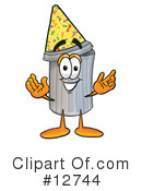 Trash Can Character Clipart #12744 by Toons4Biz