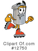 Trash Can Character Clipart #12750 by Toons4Biz