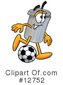 Royalty-Free (RF) trash can character Clipart Illustration #12752