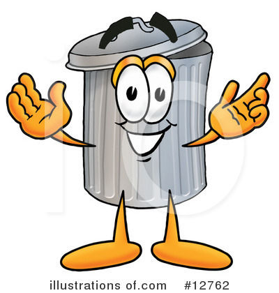 Trash Can Character Clipart #12762 by Toons4Biz