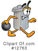 Trash Can Character Clipart #12763 by Toons4Biz