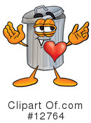 Trash Can Character Clipart #12764 by Toons4Biz