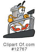 Trash Can Character Clipart #12767 by Toons4Biz