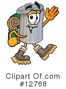 Royalty-Free (RF) Trash Can Character Clipart Illustration #12768