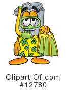 Royalty-Free (RF) trash can character Clipart Illustration #12780