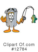 Trash Can Character Clipart #12784 by Toons4Biz