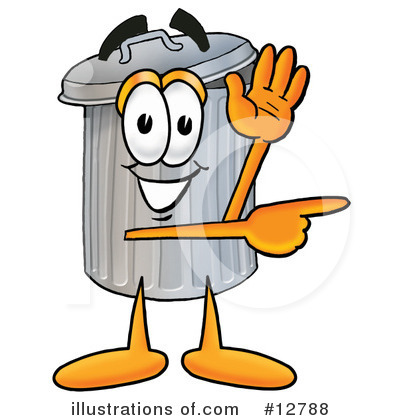 Trash Can Character Clipart #12788 by Toons4Biz