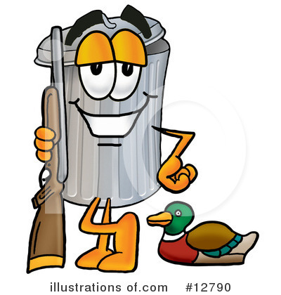 Royalty-Free (RF) Trash Can Character Clipart Illustration by Toons4Biz - Stock Sample #12790