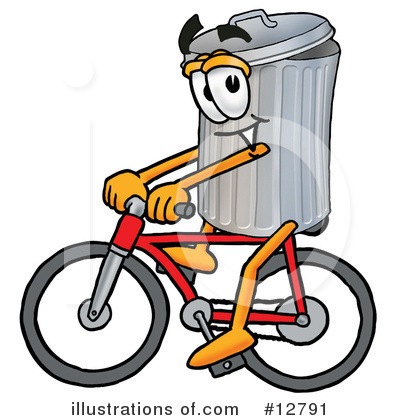 Royalty-Free (RF) Trash Can Character Clipart Illustration by Toons4Biz - Stock Sample #12791