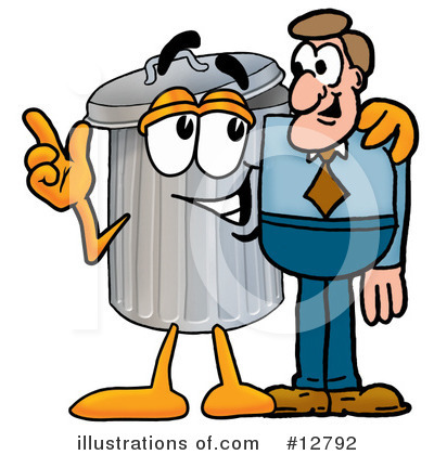 Trash Can Character Clipart #12792 by Toons4Biz