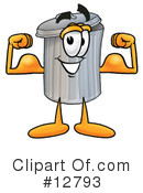 Trash Can Character Clipart #12793 by Toons4Biz
