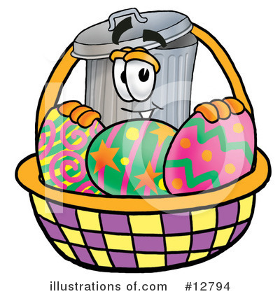 Trash Can Character Clipart #12794 by Toons4Biz