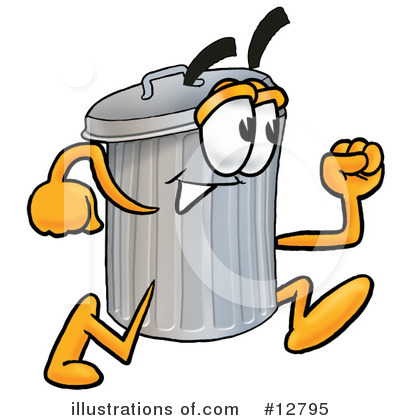 Trash Can Character Clipart #12795 by Toons4Biz