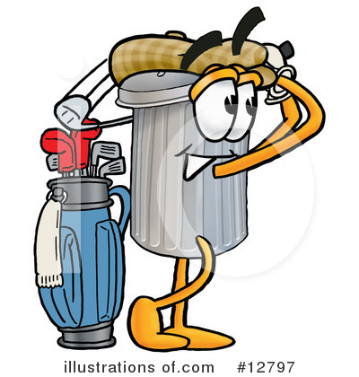 Trash Can Character Clipart #12797 by Toons4Biz